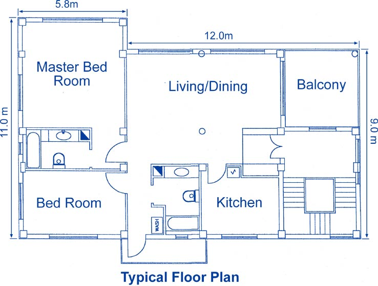 Red house apartment floor plan and amenities red house for Room design in nepal